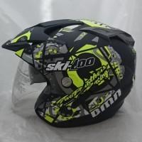 HELM MOTOR Helmet Double Visor Helem SKI Kuning setara KYT INK GM WTO