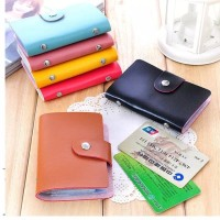 Dompet Kulit Kartu 24 Kartu Slot/Card Holder Kulit Import