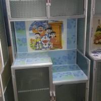 Rak Piring Lemari Dapur Box Kaca Keramik 2 Pintu Pipa Kecil