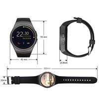 KingWear KW18 Smartwatch Phone Round Dial MTK2502 Music Pedometer