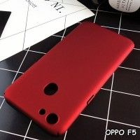 casing hp FOR OPPO F5/F5 YOUTH, F3, A71 - HARD CASE RED BLACK MATTE