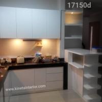 kitchen set cat duco putih