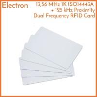 RFID Dual Frequency 125 kHz 13.56 MHz NFC Card Tag Proximity Kartu