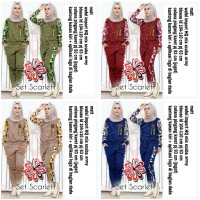 SET scarlett/stelan senam/pakaian olahraga/ pakaian muslim/baju muslim