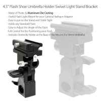B Type Bracket Flash Shoe Umbrella Holder Swivel - For Hot-shoe flash