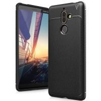 Softcase Silicone TPU V Series Black Cover Case Casing HP Nokia 7 Plus