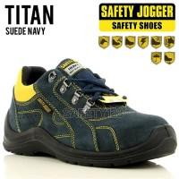 Jogger Titan Sepatu Safety Shoes Hiking Anti Slip Oil Resist Original