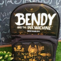 tas ransel punggung anak SD gambar karakter bendy and the ink machine