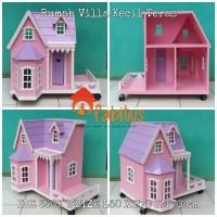 Mainan Anak Rumah Barbie Villa Kecil Teras Dollhouse 3e880ef639