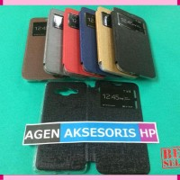 NEW Flipcover Samsung J2 Prime Leather Case / Sarung Buku HP - Ungu