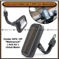 Holder Hp Motor Water Proof Anti Air Pelindung Smartphone Spion Gojek