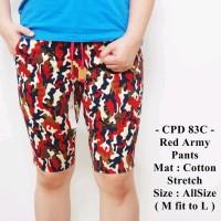 Celana Pendek Santai Trendy Distro Casual Terbaru Red Army Pants- 8