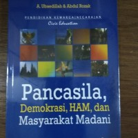 Buku PANCASILA DEMOKRASI HAM DAN MASYARAKAT MADANI