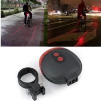 Harga merah bicycle laser strobe taillight 5 led lampu led sepeda dw   WIKIPRICE INDONESIA