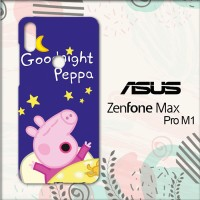 Casing Asus Zenfone Max Pro M1 Custom HP Good Night Peppa L0680