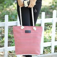 Summer Canvas Shopping Tote Bag