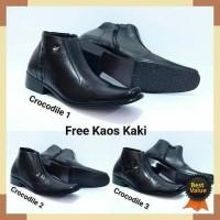 Sepatu Pantofel Crocodile Zipper Kulit Asli Formal Pantopel Kerja