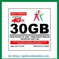Kartu Perdana Smartfren 4G LTE Kuota 30GB (15GB Utama + 15GB Malam)