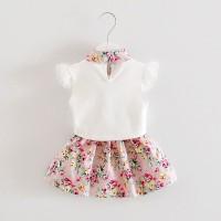 Baju Bayi perempuan untuk usia 1-4 Tahun Chiffon Sleeveless Flow - 2-3 tahun, Biru Muda