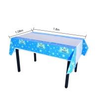 taplak meja makan polkadot motif dekorasi rumah warna biru