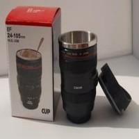 Harga gelas tumbler bentuk lensa kamera 400ml stainless   antitipu.com