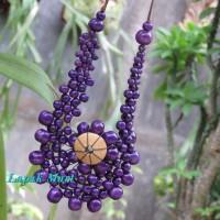 Harga kalung etnik jember kayu kopi mode bunga matahari biru 02 to | Pembandingharga.com