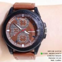 Jam tangan pria ripcurl tali kulit leather grosir ecer termurah import