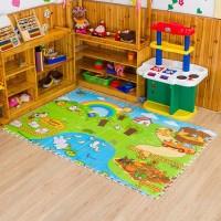 Evamat / Matras / Tikar / Karpet Puzzle Gambar Alas Lantai Evamat