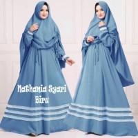 Baju Muslim Gamis Syari Pesta Wanita Nathania Set Terbaru