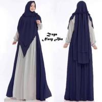 Baju Muslim Gamis Syari Pesta Wanita Zoya Set Terbaru