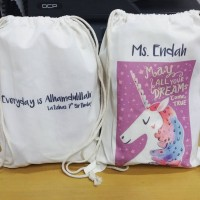 Tas / Pouch / Ransel / Tote Bag Belacu / Blacu - Unicorn 2 sisi