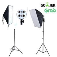 Paket Softbox Lighting light stand 4 socket promo