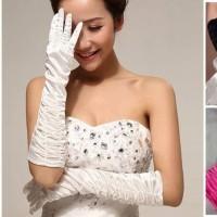 Sarung tangan fashion gloves warna aksesoris gaun dress tarian import