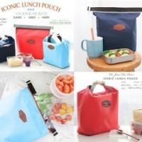 Lunch Cooler Bag Box Pouch Tas Kotak Bekal Tempat Makan Makanan Bento