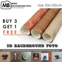 Background Foto Studio/Alas Foto 3D Midio Ukuran 53x100cm