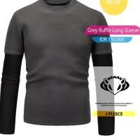 Grey Ruffle Long Sleeve
