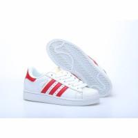ORI CINA Sepatu Sneakers Casual Unisex Model Adidas Clover Warna Puti