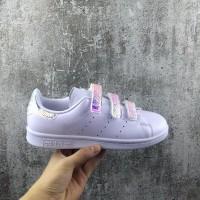 ORI CINA Sepatu Sneakers Desain Adidas Stan Smith dengan Bahan Kulit