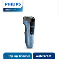 PHILIPS AQUATOUCH WET AND DRY ELECTRIC SHAVER - BIRU - S1070/04