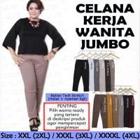 Celana Kerja Wanita Jumbo Celana Panjang Wanita Bigsize Celana Bahan