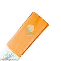 Kertas Crepe Warna (Orange Oranye) 110 x 60 cm Besar Full Krep Klobot
