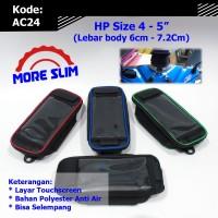 Harga tas holder hp sepeda motor ac24 phone holder gojek selempang   antitipu.com