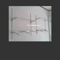 Dekorasi Toko Butik Bracket system Pipa kotak Daun Ambalan
