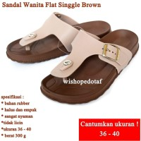 Sandal Wanita Flat Singgle BROWN
