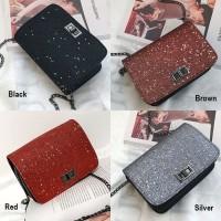 Harga clutch bag glitter g571 tas pesta rantai slempang wanita korea | Hargalu.com