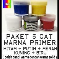 Cat Tekstil / Lukis  utk kaos / kanvas / tas / sepatu -  paket 5 warna