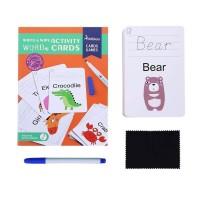 Mainan Edukasi Write and Wipe Activity Cards Mideer Belajar Menulis