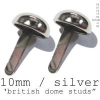SPIKE/STUD BRITISH DOME SILVER 10mm 100pcs (IMPORT U.S)
