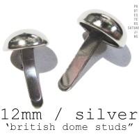 SPIKE/STUD BRITISH DOME SILVER 12mm 100pcs (IMPORT U.S)