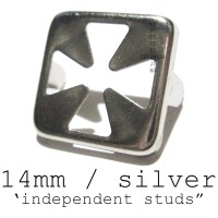 SPIKE/STUD INDEPENDENT SILVER 14mm 100pcs (IMPORT U.S)